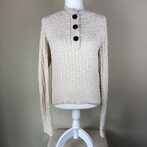 FREE PEOPLE Cream All My Friends Henley Top L NWOT